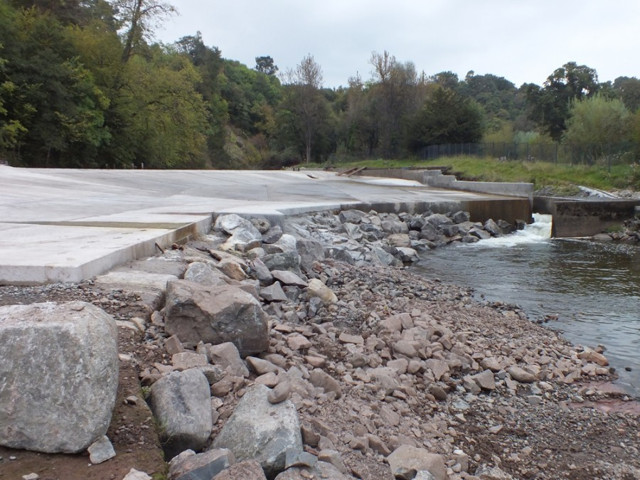Looking upstream at the completed dam. Photos from ART.
