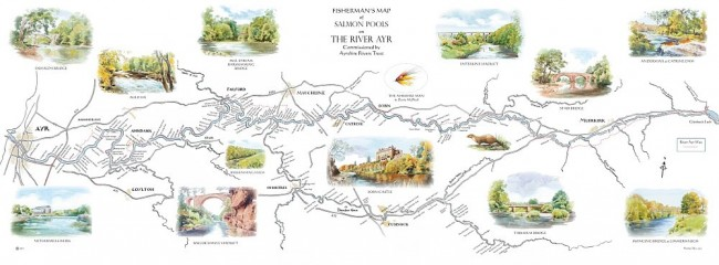 River Ayr map